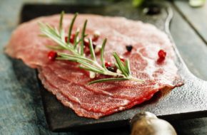 Bison Carpaccio with Balsamic Roasted Baby Vegetables, Shiraz Reduction & Asiago article image