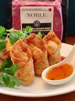 Bison Wonton baci con salsa speziata al miele Chinook immagine articolo