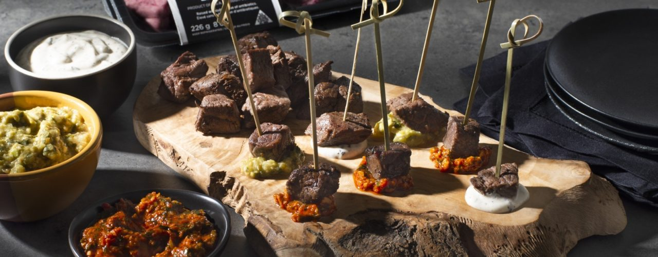 Bison Steak Cubes with 3 Dipping Sauces article image