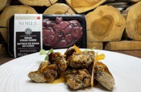 Immagine dell'articolo di cubetti di bistecca di bisonte allo zenzero