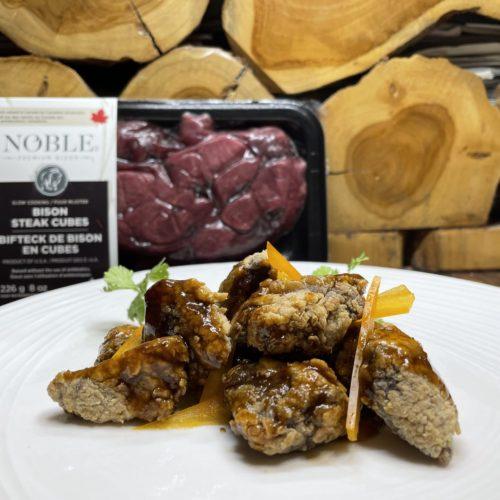 Gingered Bison Steak Cubes