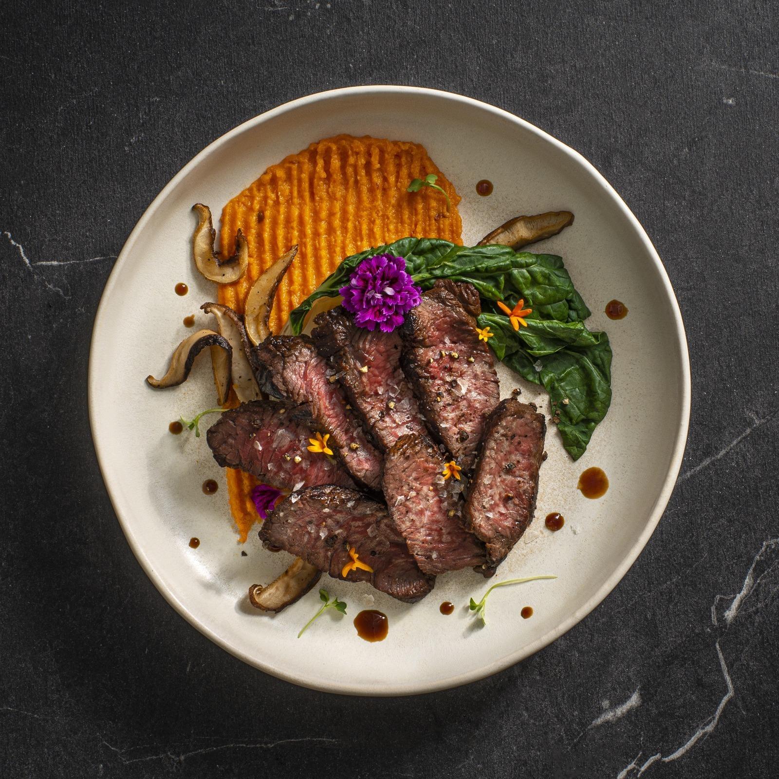 surlonge de bison teriyaki avec patate douce