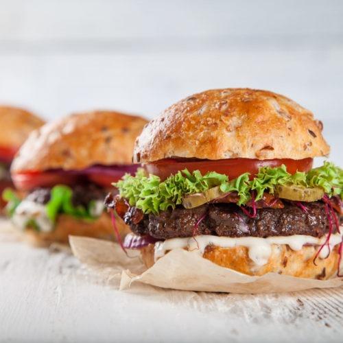 Bison Gorgonzola Burgers
