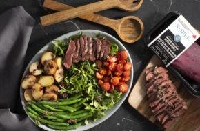 Immagine dell'articolo dell'insalata di bistecca alla nizzarda di bisonte