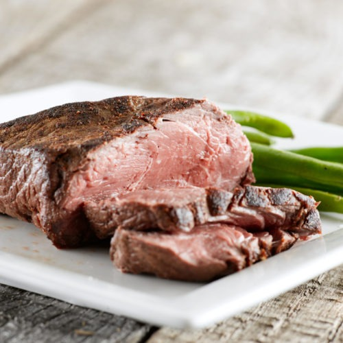 Bison Top Sirloin Steak with Mustard Shallot Sauce