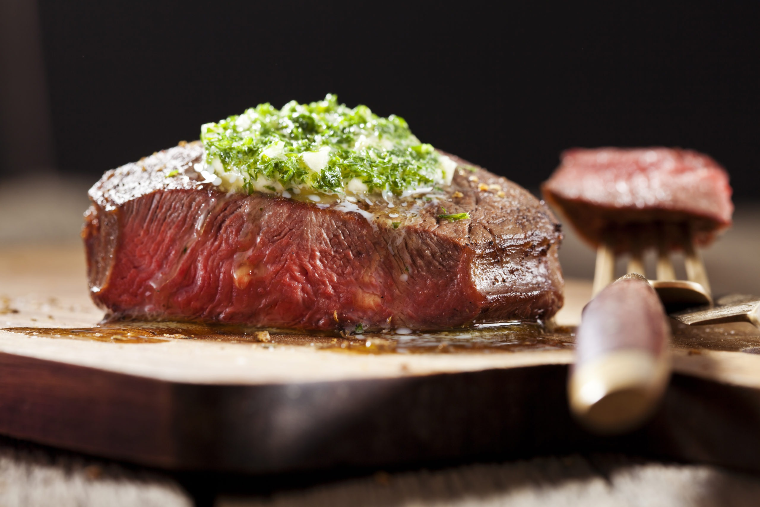 Bison Top Sirloin Steak with Garlic Butter article image
