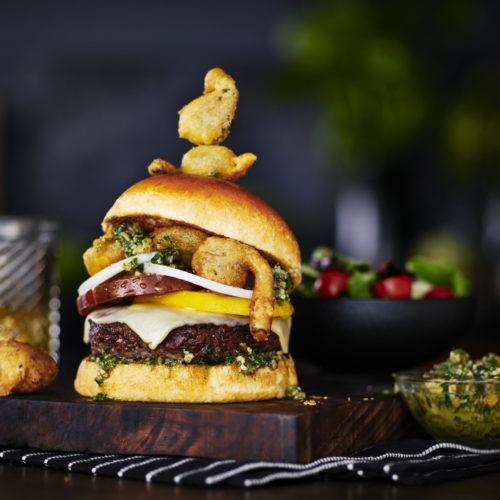 Wild Spicin' Bison Burger
