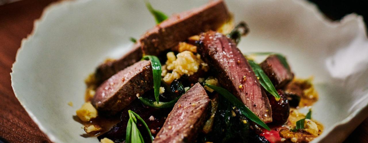 Warm Bison Steak Salad article image