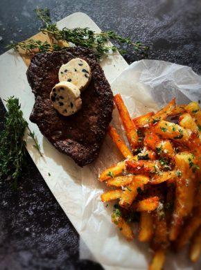 Immagine dell'articolo di bistecca di bisonte con patatine fritte al tartufo